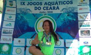 Atleta do IMG é destaque no IX Meeting Cearense de natação paralimpica
