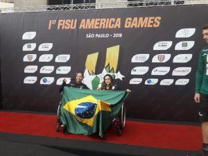 Atleta do Instituto Mara Gabrilli brilha no pódio do Fisu America Games
