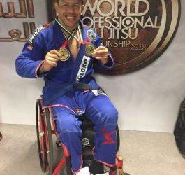 Atleta do Instituto Mara Gabrilli é campeão mundial de Jiu-Jitsu, em Abu Dhabi, Emirados Árabes