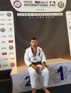Atleta do Instituto Mara Gabrilli é vice-campeão de Jiu Jitsu do International Pro de Goiânia 2018