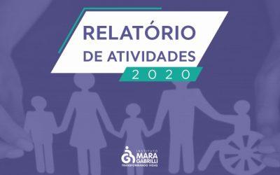 Instituto Mara Gabrilli publica relatório de atividades 2020.